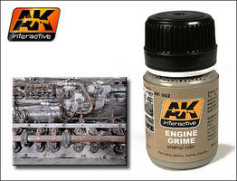 AK Engine Grime Enamel Paint 35ml Bottle Hobby and Model Enamel Paint #82