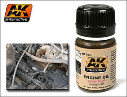 AK Engine Oil Glossy Enamel Paint 35ml Bottle Hobby and Model Enamel Paint #84