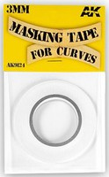 AK Masking Tape for Curves 3mm