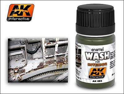 AK Interior Wash Enamel Paint 35ml Bottle Hobby and Model Enamel Paint #93