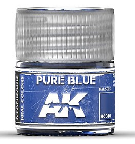 AK Interactive Real Colors- Pure Blue Acrylic Lacquer Paint 10ml Bottle