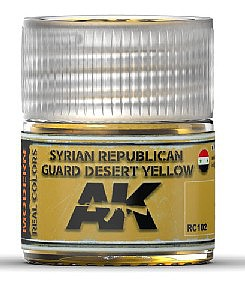 AK Interactive Real Colors- Syrian Republican Guard Desert Yellow Acrylic Lacquer Paint 10ml Bottle