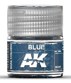 AK Interactive Real Colors- Blue Acrylic Lacquer Paint 10ml Bottle