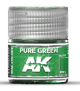 AK Interactive Real Colors- Pure Green Acrylic Lacquer Paint 10ml Bottle