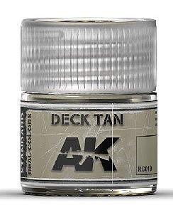 AK Interactive Real Colors- Deck Tan Acrylic Lacquer Paint 10ml Bottle