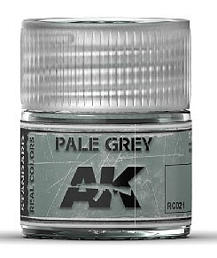 AK Interactive Real Colors- Pale Grey Acrylic Lacquer Paint 10ml Bottle