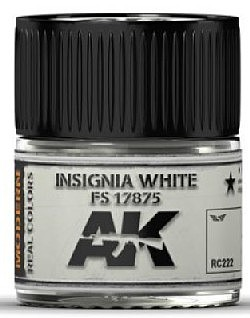 AK Real Colors- Insignia White FS17875 Acrylic Lacquer Paint 10ml Bottle