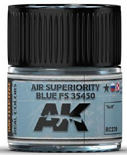 AK Real Colors- Air Superiority Blue FS35450 Acrylic Lacquer Paint 10ml Bottle