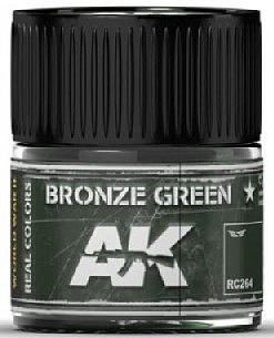 AK Real Colors- Bronze Green Acrylic Lacquer Paint 10ml Bottle