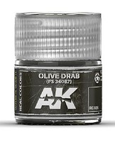 AK Real Colors- Olive Drab FS34087 Acrylic Lacquer Paint 10ml Bottle