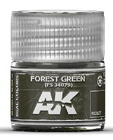 AK Real Colors- Forest Green FS34079 Acrylic Lacquer Paint 10ml Bottle