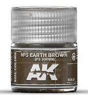 AK Real Colors- N5 Earth Brown FS30099 Acrylic Lacquer Paint 10ml Bottle