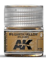 AK Real Colors- N6 Earth Yellow FS30257 Acrylic Lacquer Paint 10ml Bottle
