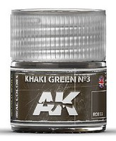 AK Real Colors- Khaki Green N3 Acrylic Lacquer Paint 10ml Bottle