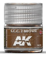 AK Real Colors- SCC 2 Brown Acrylic Lacquer Paint 10ml Bottle