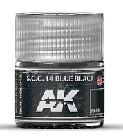 AK Real Colors- SCC 14 Blue Black Acrylic Lacquer Paint 10ml Bottle