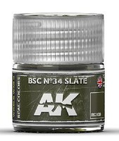 AK Real Colors- BSC N34 Slate Acrylic Lacquer Paint 10ml Bottle