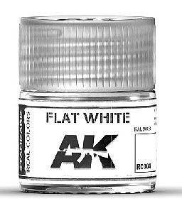 AK Interactive Real Colors- Flat White Acrylic Lacquer Paint 10ml Bottle