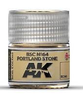 AK Real Colors- BSC N64 Portland Stone Acrylic Lacquer Paint 10ml Bottle