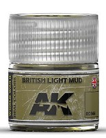AK Real Colors- British Light Mud Acrylic Lacquer Paint 10ml Bottle
