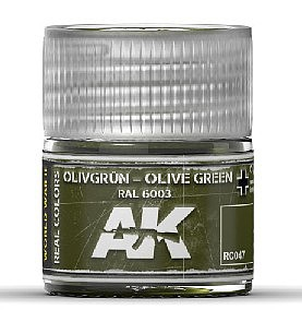 AK Interactive Real Colors- Olive Green RAL6003 Acrylic Lacquer Paint 10ml Bottle