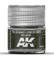 AK Real Colors- Field Grey RAL6006 Acrylic Lacquer Paint 10ml Bottle