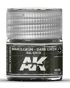 AK Interactive Real Colors- Dark Green RAL6009 Acrylic Lacquer Paint 10ml Bottle