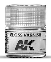 AK Real Colors- Gloss Varnish Acrylic Lacquer Paint 10ml Bottle