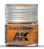 Real Colors- Clear Orange Acrylic Lacquer Paint 10ml Bottle