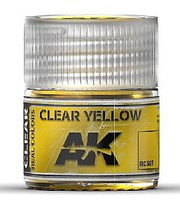 AK Real Colors- Clear Yellow Acrylic Lacquer Paint 10ml Bottle