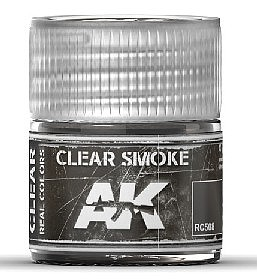 AK Interactive Real Colors- Clear Smoke Acrylic Lacquer Paint 10ml Bottle