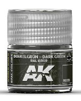 AK Real Colors- Dark Green RAL6009 Acrylic Lacquer Paint 10ml Bottle