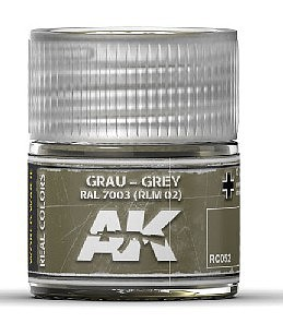 AK Real Colors- Grey RAL7003 RLM02 Acrylic Lacquer Paint 10ml Bottle