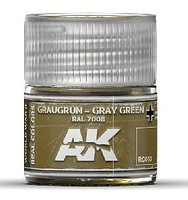 AK Real Colors- Grey Green RAL7008 Acrylic Lacquer Paint 10ml Bottle