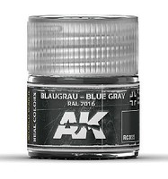AK Real Colors- Blue Grey RAL7016 Acrylic Lacquer Paint 10ml Bottle