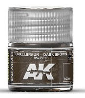 AK Real Colors- Dark Brown RAL7017 Acrylic Lacquer Paint 10ml Bottle