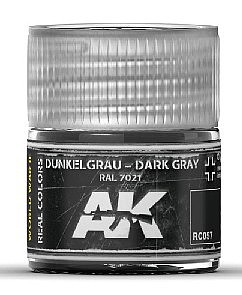 AK Interactive Real Colors- Dark Grey RAL7021 Acrylic Lacquer Paint 10ml Bottle