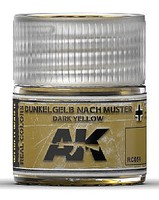 Real Colors- Muster Dark Yellow Acrylic Lacquer Paint 10ml Bottle