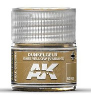 AK Real Colors- Dark Yellow (Variant) Acrylic Lacquer Paint 10ml Bottle