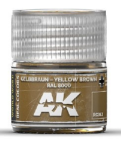 AK Real Colors- Yellow Brown RAL8000 Acrylic Lacquer Paint 10ml Bottle