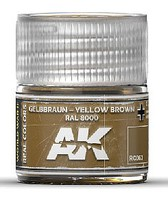 Real Colors- Yellow Brown RAL8000 Acrylic Lacquer Paint 10ml Bottle