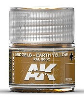AK Real Colors- Earth Yellow RAL8002 Acrylic Lacquer Paint 10ml Bottle