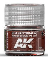 AK Real Colors- Red Brown RAL8012 Acrylic Lacquer Paint 10ml Bottle