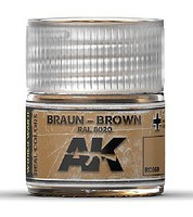 AK Real Colors- Brown RAL8020 Acrylic Lacquer Paint 10ml Bottle