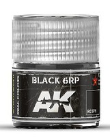AK Real Colors- Black 6RP Acrylic Lacquer Paint 10ml Bottle