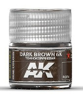 AK Real Colors- Dark Brown 6K Acrylic Lacquer Paint 10ml Bottle