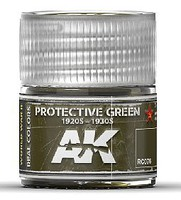 AK Real Colors- Protective Green 1920s-1930s Acrylic Lacquer Paint 10ml Bottle