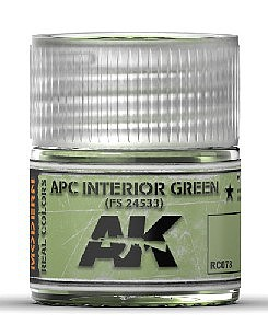 AK Real Colors- APC Interior Green FS24533 Acrylic Lacquer Paint 10ml Bottle