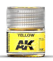 AK Real Colors- Yellow Acrylic Lacquer Paint 10ml Bottle