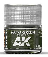 AK Real Colors- NATO Green RAL6031 F9 Acrylic Lacquer Paint 10ml Bottle